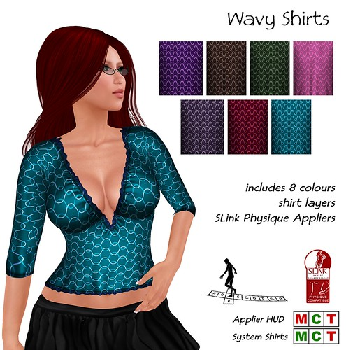Wavy Shirts with Slink Physique Appliers