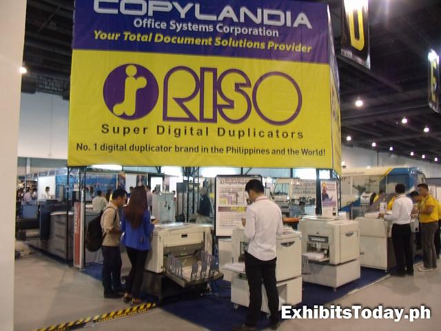 Copylandia RISO exhibit stand