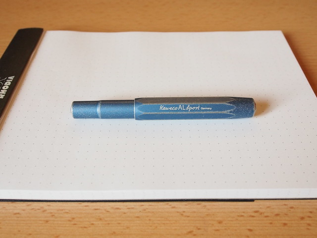 Kaweco AL Sport Stonewashed Blue Fountain Pen - Review - Capped