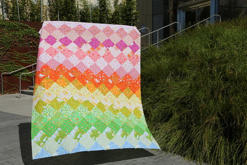 Heather Ross Rainbow Quilt Top