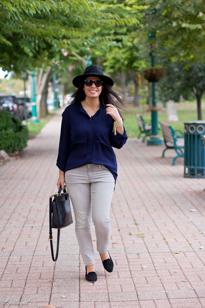 grey denim, navy blouse, wool fedora-3.jpg