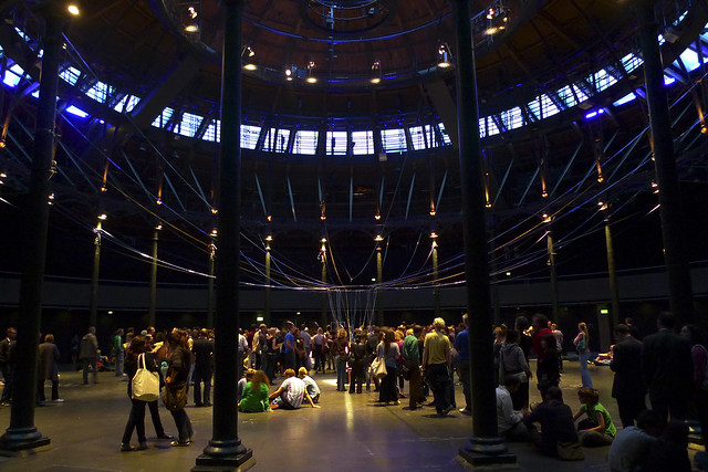 Playing the Building by David Byrne at The Roundhouse, photo by Ewan Munro