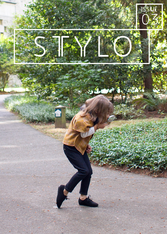 girl detective for stylo magazine // skirt as top
