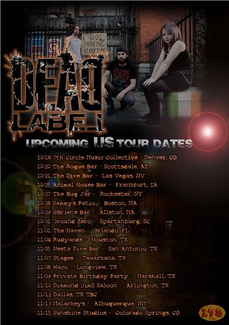 Dead Label US Tour Poster (10/18/14 - 11/15/14)