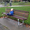 A rest on a bench for my travelling companion.