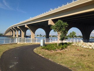 Pedestrian/bike path under both sides Pinellas Bayway or walk bridge #LoveFL #LiveAmplified