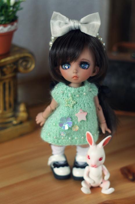 PKF knitted dress - mint