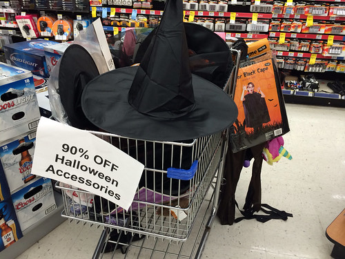 check your local walgreens for a 90 off halloween clearance my local store had costumes decorations and more all at 90 off the original retail price