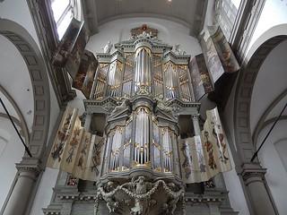 Imagen de Westerkerk cerca de Ámsterdam. church amsterdam spectacular pipes culture christian imposing pipeorgan westerkerk