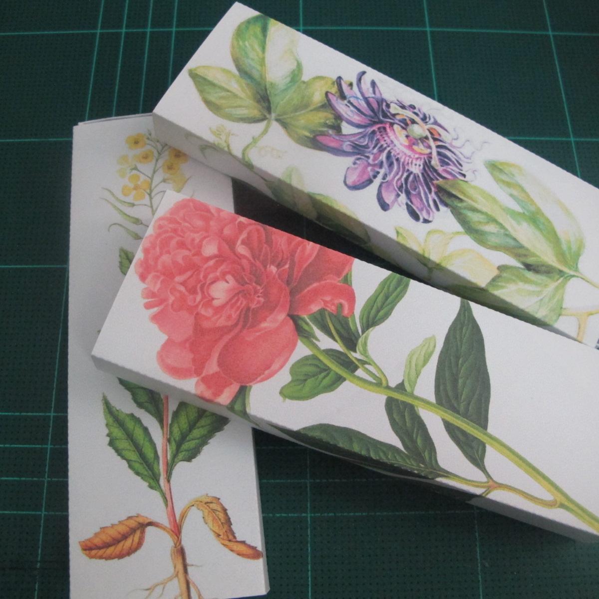 วิธีทำกล่องกระดาษสำหรับใส่ของเป็นลายดอกไม้ (Botanical paper box DIY printable template) 009