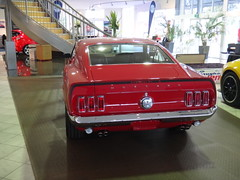 executive car(0.0), automobile(1.0), automotive exterior(1.0), vehicle(1.0), ford mustang mach 1(1.0), first generation ford mustang(1.0), antique car(1.0), classic car(1.0), land vehicle(1.0), muscle car(1.0), sports car(1.0),