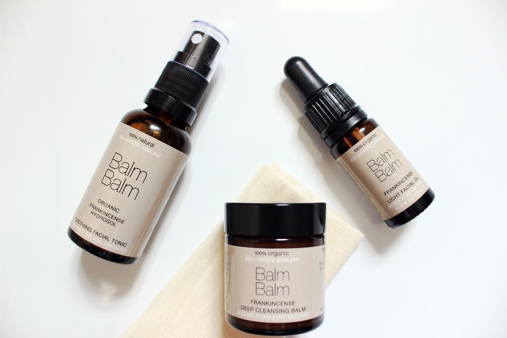 Balm Balm Frankincense Organic Skincare Gift Set Cleansing Balm, Facial Toner and Facial Oil