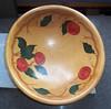Vintage Rio Grande Woodenware hand-painted bowl