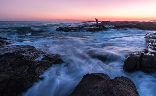 ocean york longexposure travel blue sunset usa seascape beach water horizontal landscape rocks unitedstates maine atlantic explore bluehour