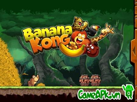 Banana Kong v1.8 hack full chuối & tim cho Android