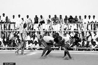 Nuba wrestling in Bahri, Sudan