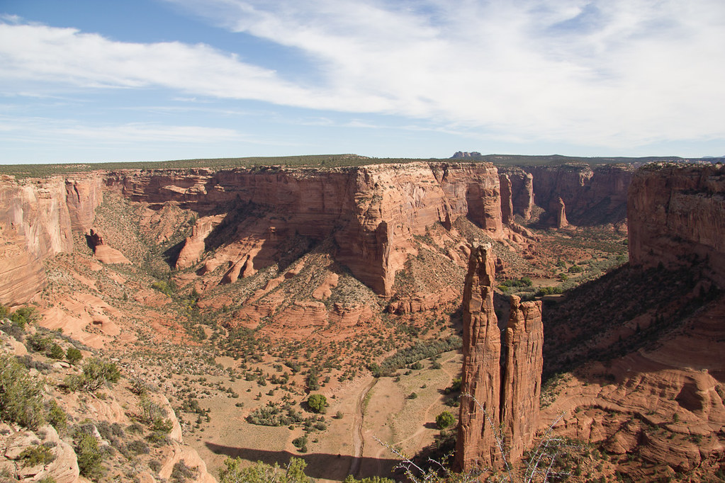 View of Spider Rock from the South Rim of Canyon de Chelly