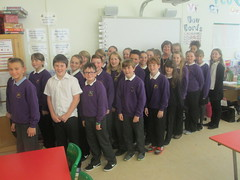 With P7 pupils at Longniddry Primary School to discuss the Send my Friend to School campaign