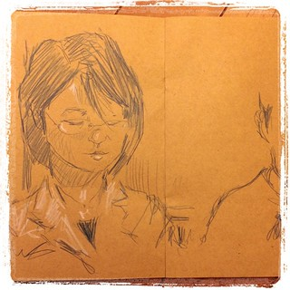#japon #tokyo #metro #colerase #portraits #urbansketch #kraft