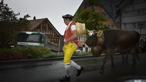 """people animal geotagged schweiz switzerland cow nikon suisse landwirtschaft che kühe senn brauchtum nikonshooter urnäsch myswitzerland kantonappenzellausserrhoden nikonschweiz geosetter d5300 """"nikonflickraward"""" capturenx2 ponte1112 nikkor18200vrll viewnx2 geo:lat=4731704773 geo:lon=928254552"""