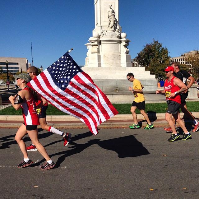 America! #igdc #marinecorpsmarathon