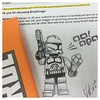 Customer Request: Draw a picture of a Clone Trooper holding a gun & ice cream cone shouting 'Victory'