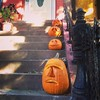 Four… pumpkins on a stoop on Prospect Place, Brooklyn. #fmsphotoaday #fmsphotoadayoct #photochallenge #halloween