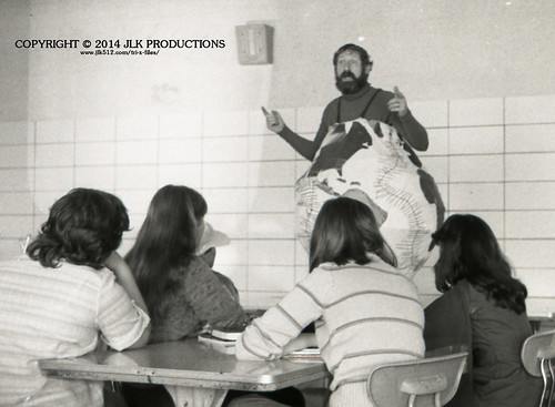 Tri-X Files 84_28.14a: Dr. Birdd as The Earth in The Cafeteria