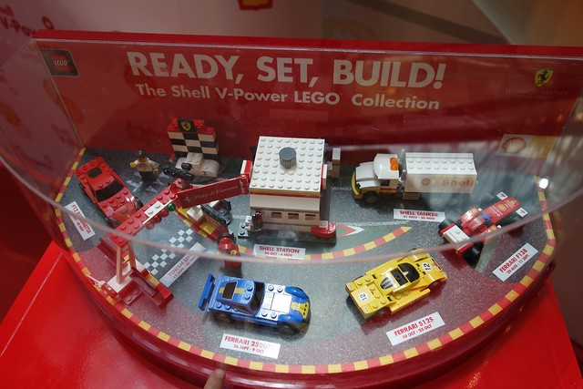 The entire Shell V-Power LEGO collection