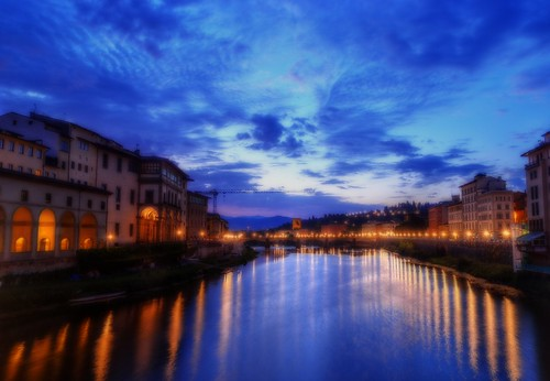 morning bridge italy sunrise river dawn florence nikon italia firenze bluehour arno pontevecchio qtpfsgui d5100