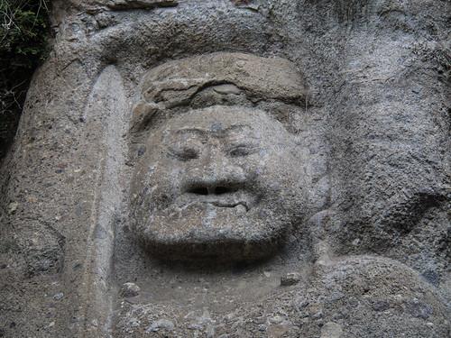Giant carving of Fudō Myōō