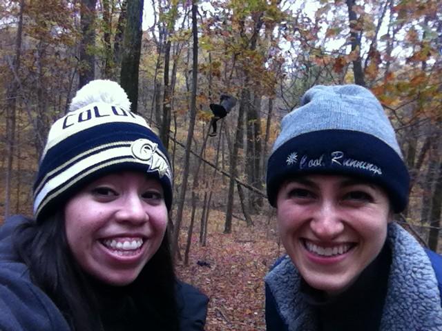 Tree-riding photobomb
