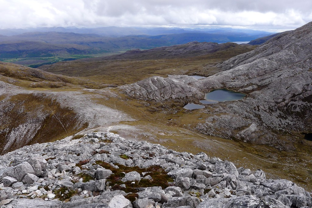 Looking down on the Bealach a' Choire Ghairbh