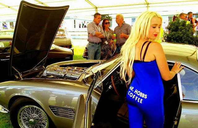 Retro Photos of the Mr Hobbs Coffee Girls working with our Event Team at the Festival of Speed with Leah.