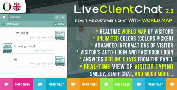 Live Client Chat v2.6 - Help Chat With Visitors Map