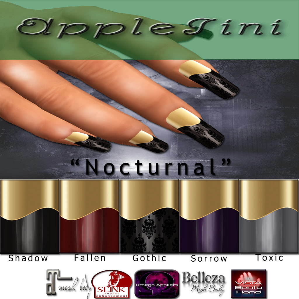 AppleTini Nocturnal Nails - SecondLifeHub.com