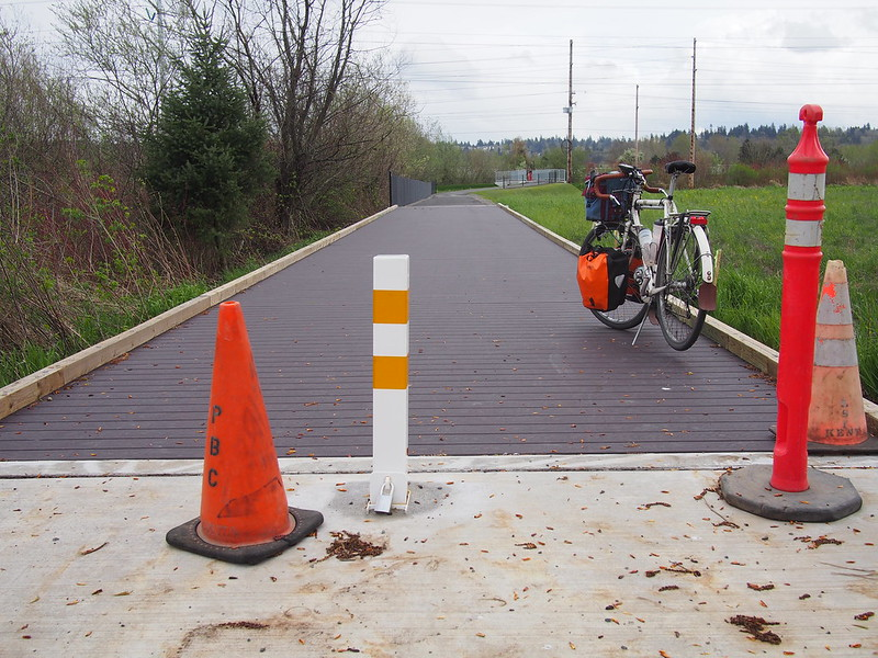 New Interurban Trail Branch: They've been working on this one for a while now.  It's nearly done!