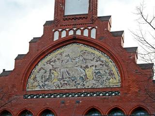 Beschädigtes Mosaik