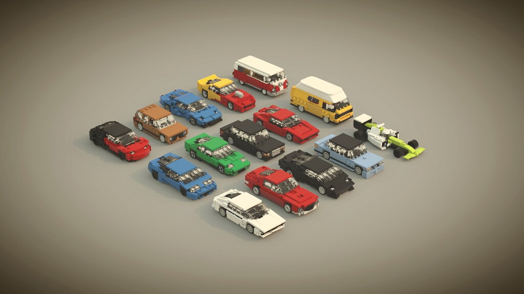 Car collection (custom built Lego model)