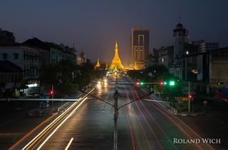 Yangon - Shwedagon Pagoda from Sakura Tower