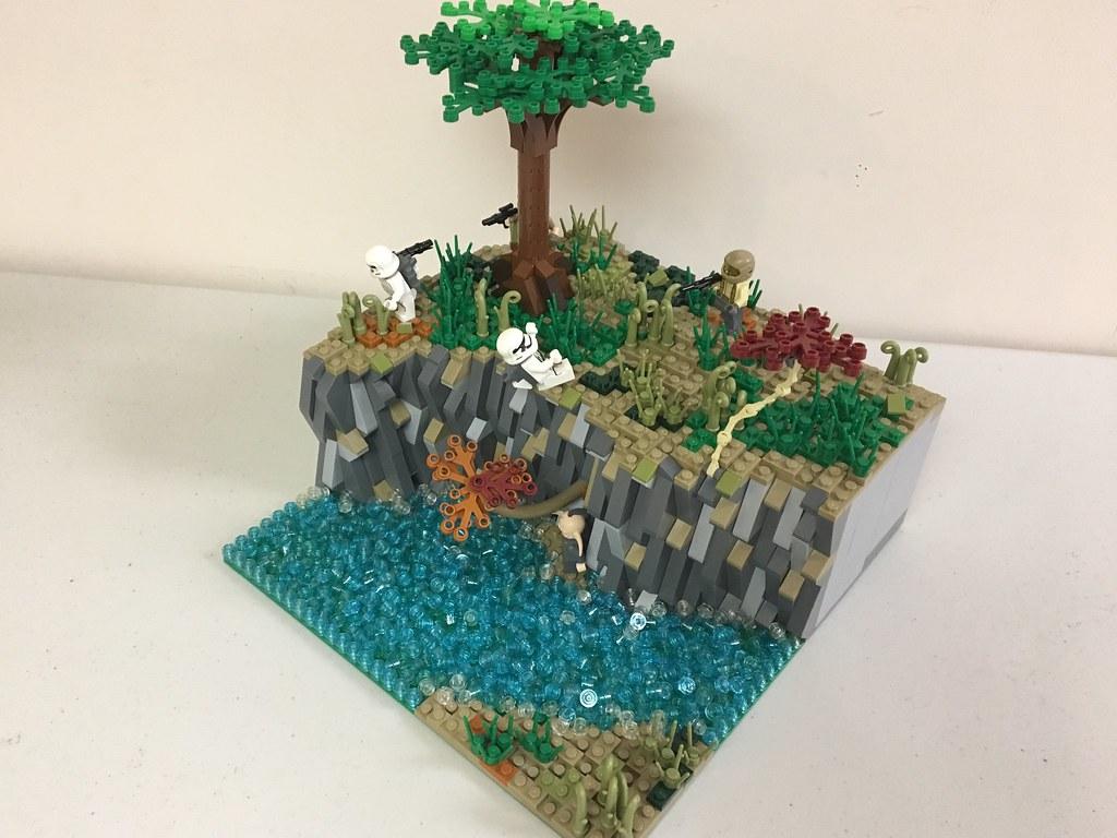 Lego Star Wars Mini MOC: Resistance Liberation on Lannik (custom built Lego model)