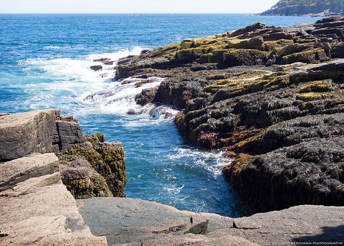 acadia park nature atlanticocean barharbor northeast america newengland mdi rocks wave acadianationalpark