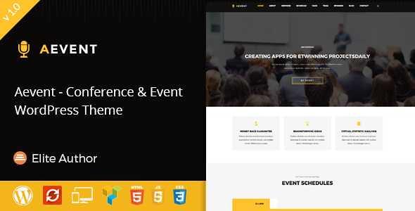 Aevent WordPress Theme free download