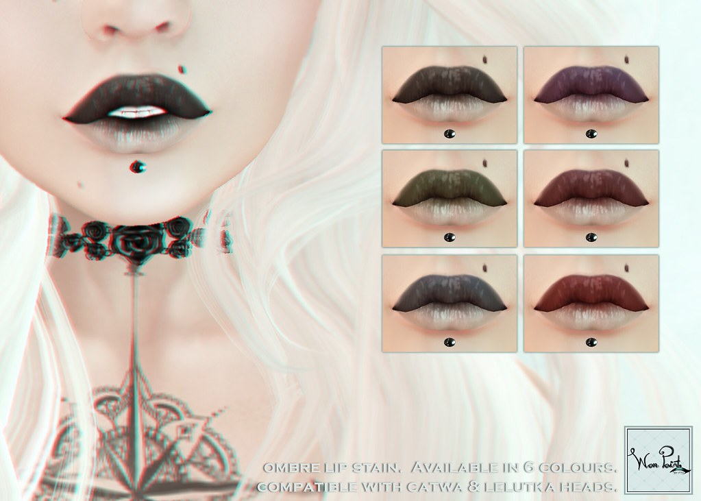 WarPaint* @BODYFY - Ombre lip stain - SecondLifeHub.com