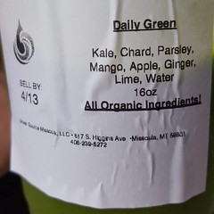 Downtown tech meeting gave me an excuse to stop at my absolute favorite @greensourcemissoula for a daily green and raw pick me up. Thanks for the shot of goodness. #rockoutwithyourbadself
