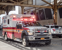FDNY Ambulance, 2017 Yankees Home Opener at Yankee Stadium, The Bronx, New York City