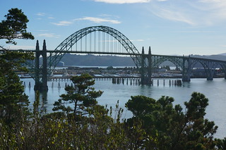 Bridge across Yaquina River, Newport, OR