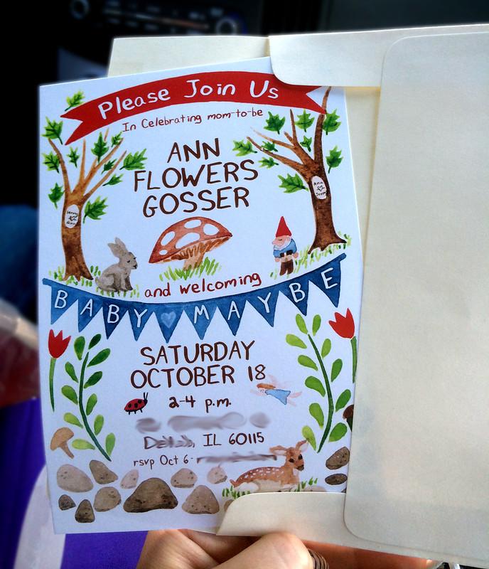 Woodland Theme Baby Shower Invitation