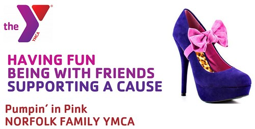 Joel Schlessinger donates to the YMCA's Pumpin' In Pink breast cancer awareness event