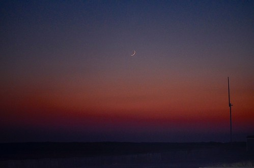 sunset october jonesbeach 2014 waxingcrescentmoon nikond5100